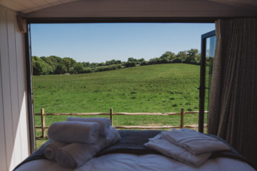 East Sussex Meadow Escape - view from the bed