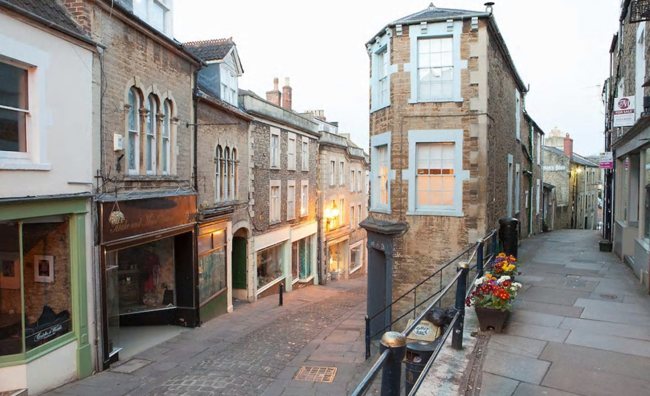 Frome's cobbled streets