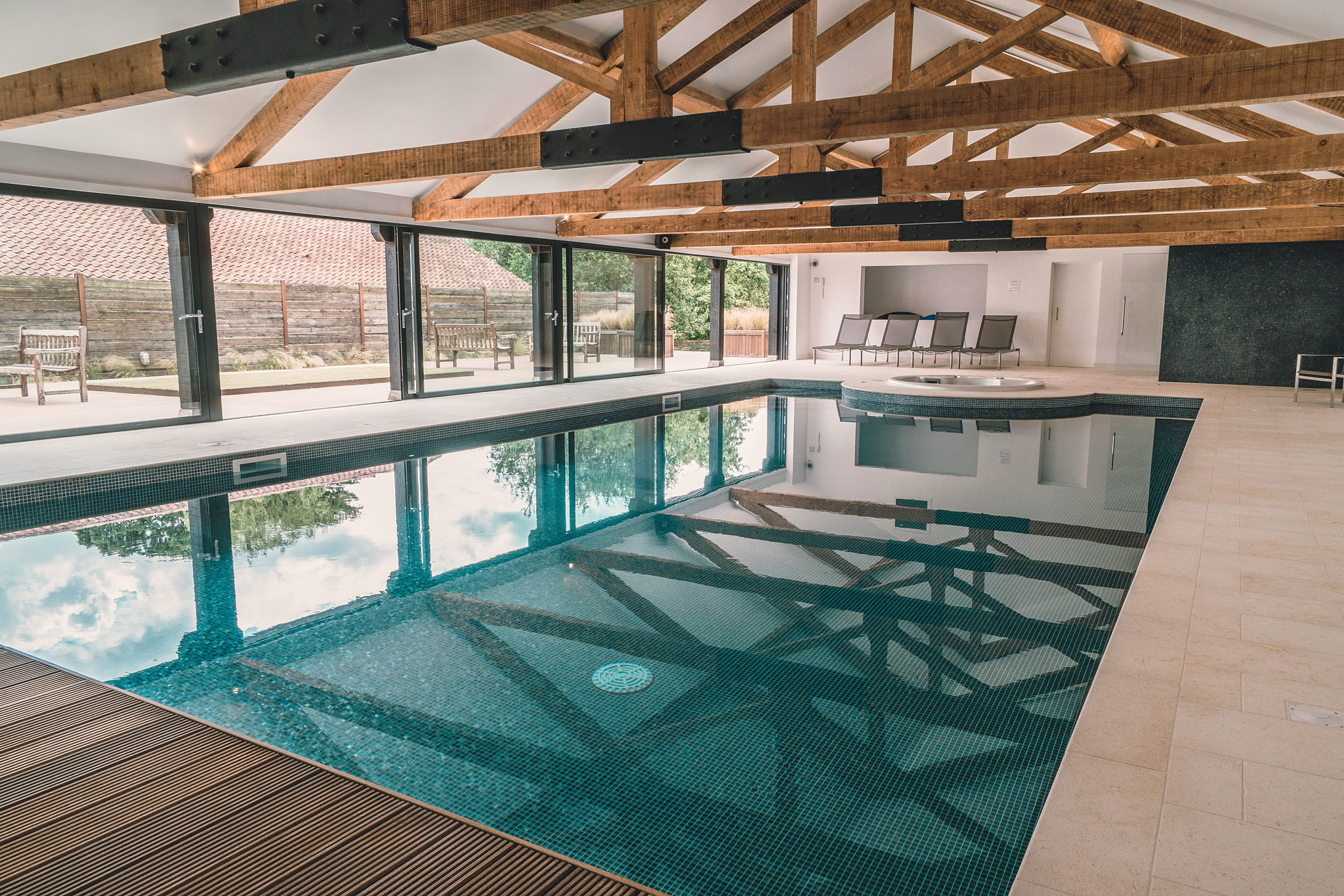 Little Westacre Barn - shared pool